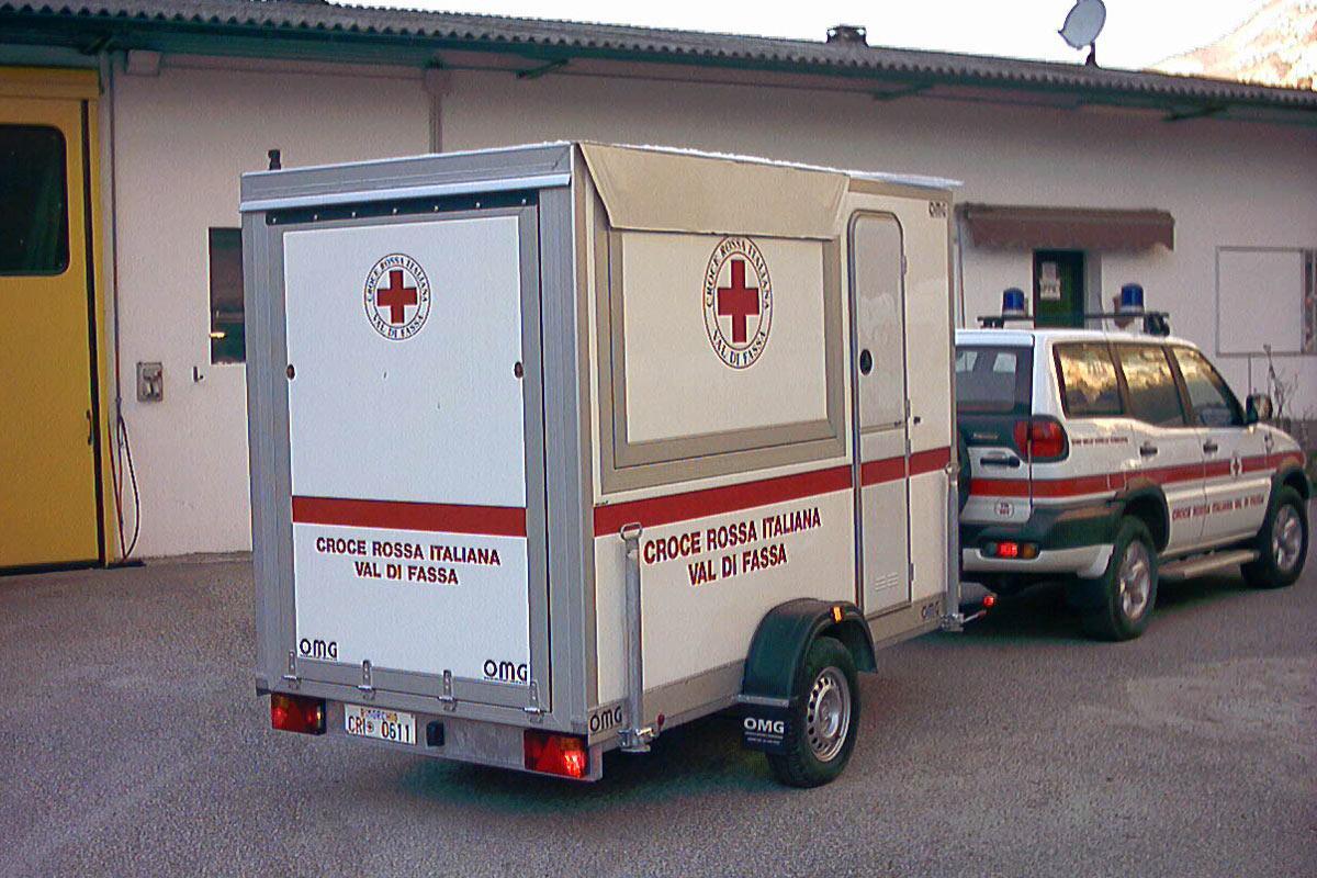 Rimorchio Croce Rossa